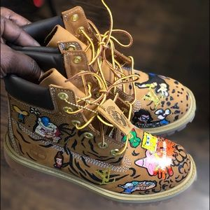 Custom Kids Timbs BY: CARLOS ZANNETTA CLOTHING